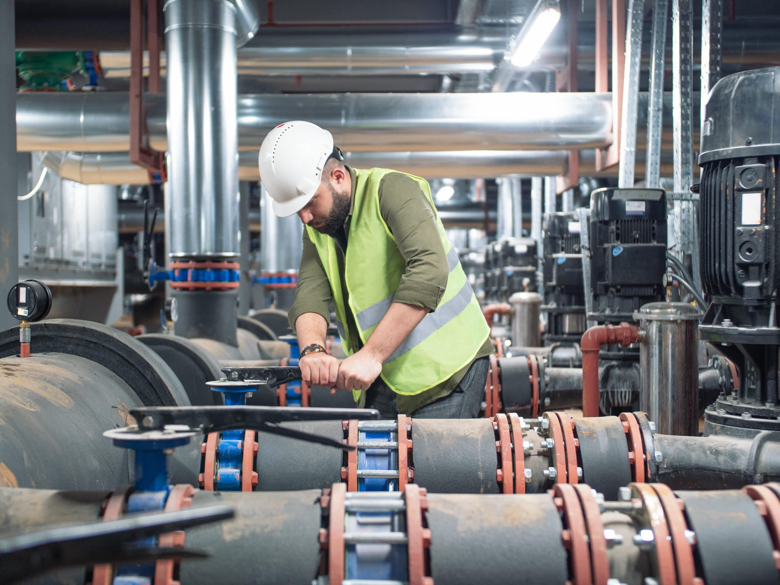 Man providing commercial maintenance